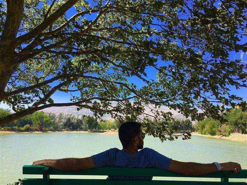 🇱🇧🌲🌿🍃🌲🌿🍃🇱🇧 vacation trip lake river nature naturephotography... (Deïr Taanâyel, Béqaa, Lebanon)