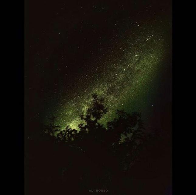 The milkyway in the sky of Baalbeck صورة لمجرة درب التبانة في سماء بعلبك...