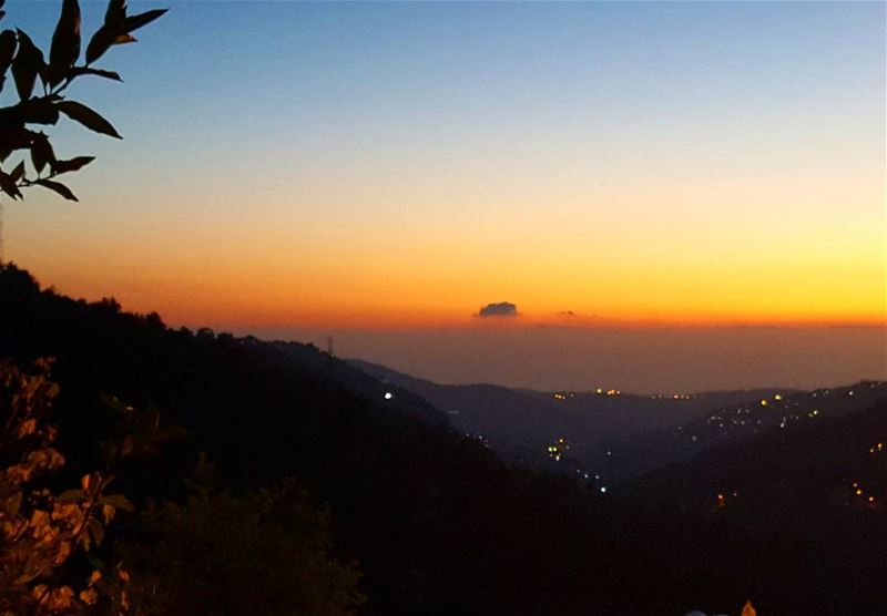 Sunsets are everything 💛🌄  Lebanon  MountLebanon  Chouf  sunset  dusk ...