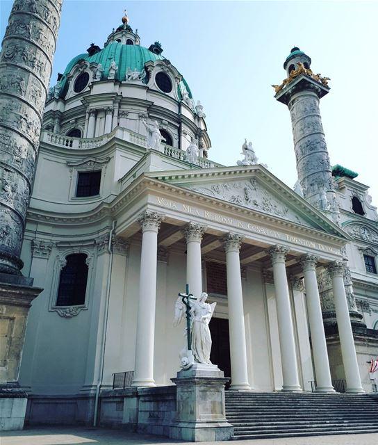 Back to Austria 💙 saintcharles vienna church architecture baroque ... (Saint Charles Apotheke Wien)