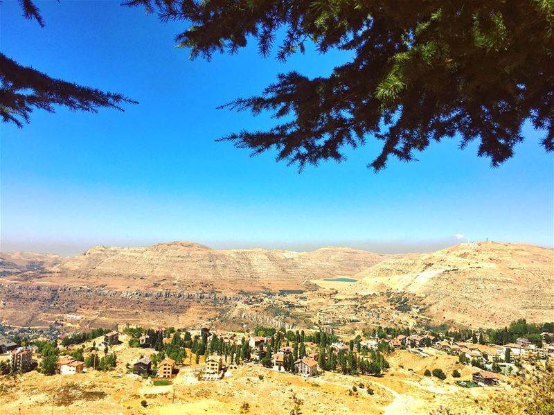 Life's a Climb but the VIEW is GREAT ⛰🏔😎 livelovemzaar farayalovers ... (InterContinental Mzaar Lebanon Mountain Resort & Spa)