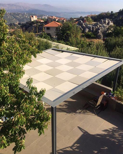Our kind of Minimalism PergolaKitsLebanon. Pergola Steel Square ... (Ballouneh, Mont-Liban, Lebanon)