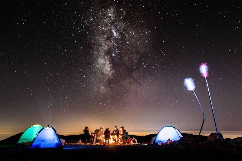 A 3088 meter elevated birthday🌌🎂.... milkyway mybirthday stars... (Qurnat as Sawda')