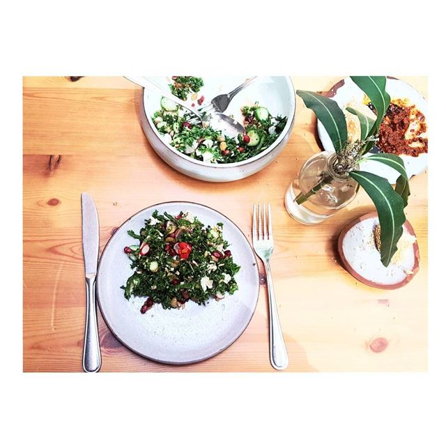 Greenish with a 🌸--- TakeMeTo marmikhael Baron Lebanon salad kale... (Baron)