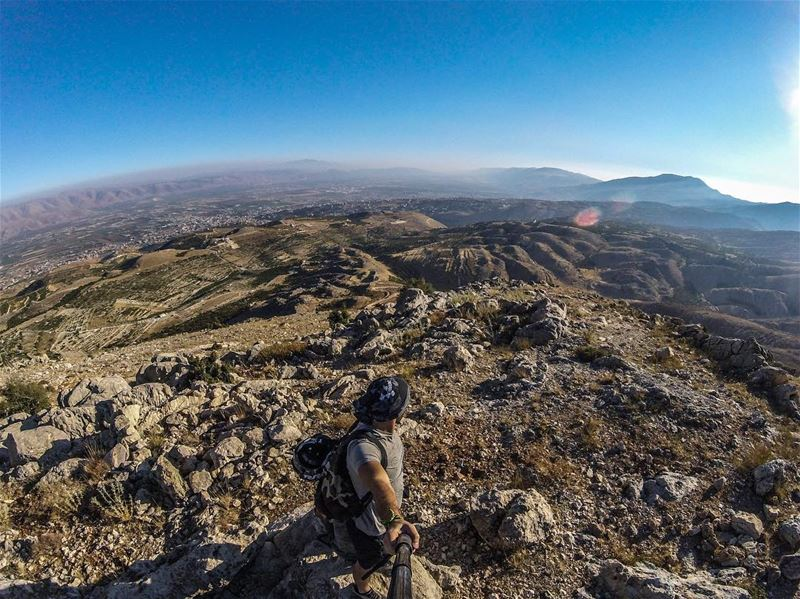 It is not the Mountain we Conquer but ourselves ... (Bekaa Valley)