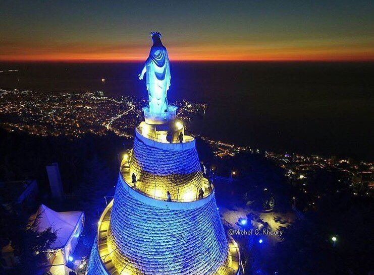Good night dear followers with this amazing photo from harissa lebanon... (Harîssa, Mont-Liban, Lebanon)