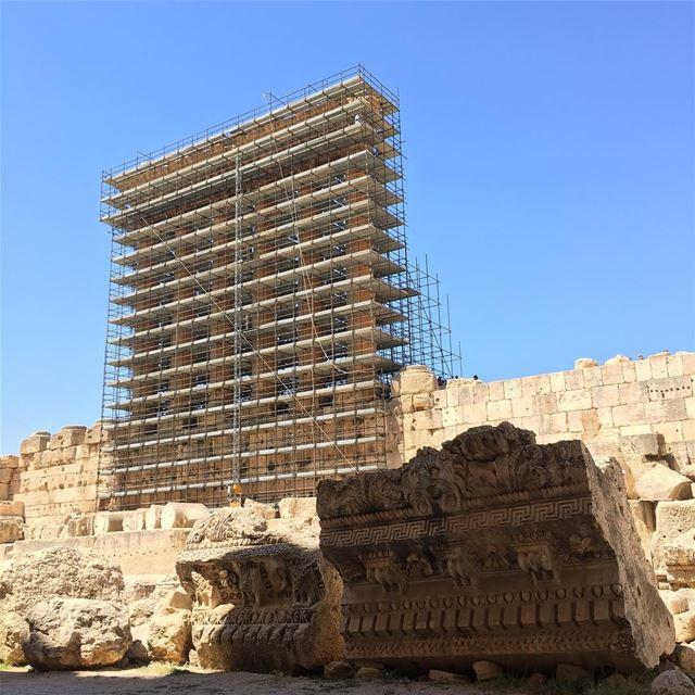 Restoration of the Temple of Jupiter Lebanon lebanoninapicture ... (Baalbek, Lebanon)