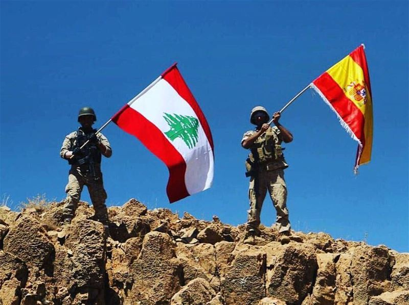 PROUD 🇪🇸◽🇱🇧 lebanon spain forceslibanaises barcelona love ...