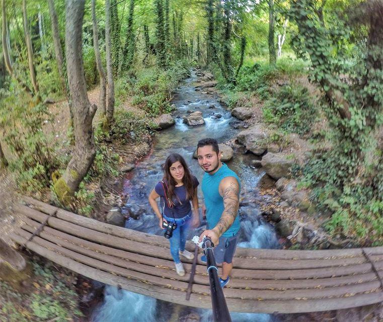 🍃🌳🌿.... nature friends naturephotography gopro river bridge trees... (Bcharreh, Liban-Nord, Lebanon)