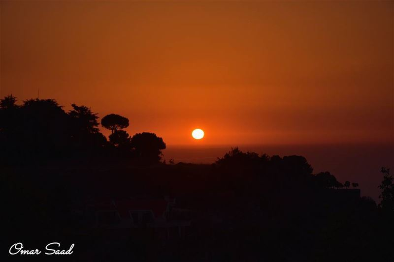 A beautiful sunset from sawfar mountain sunset sun lebanon photo ... (Sawfar, Mont-Liban, Lebanon)