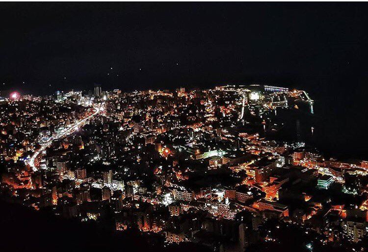 """The darkest nights produce the brightest stars ""💫💫 Good night dear... (جونية - Jounieh)"