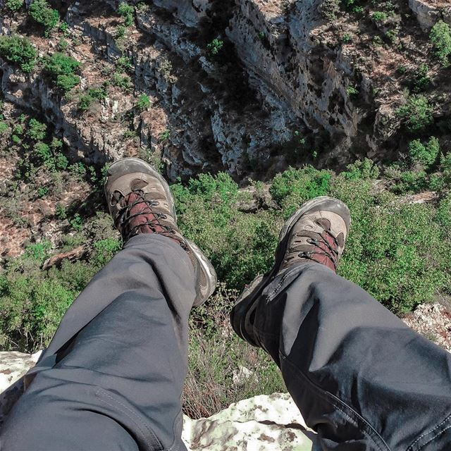 If you're not walking in these boots, you're doing too much research...... (Akoura, Mont-Liban, Lebanon)