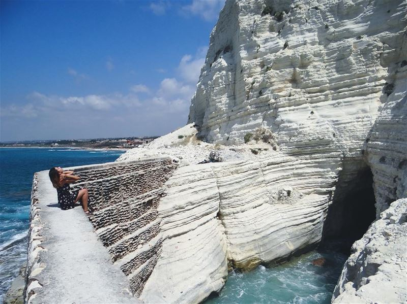 It was here where we first learned to breathe. 🌊 (الناقورة / Al Naqoura)