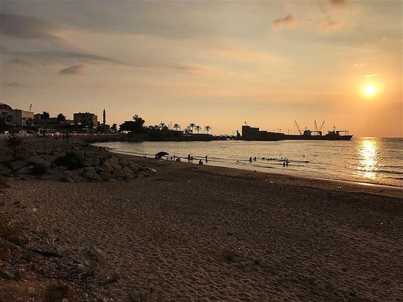 sunset sunsetlovers sidon seaview onthesea saida lebanon ... (Sidon, Lebanon)