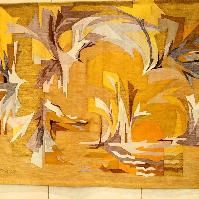 The artist behind this tapestry on display was a wonderful person I was... (Downtown Beirut)