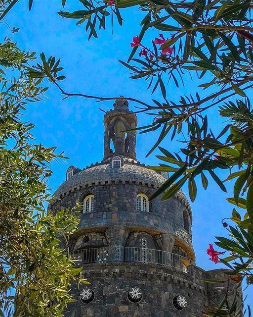 black castle 🏰🎠🤴🏻🐉 volcanic 🌋 rocks blue untouchedlebanon ... (Chateau Noir Kousba)