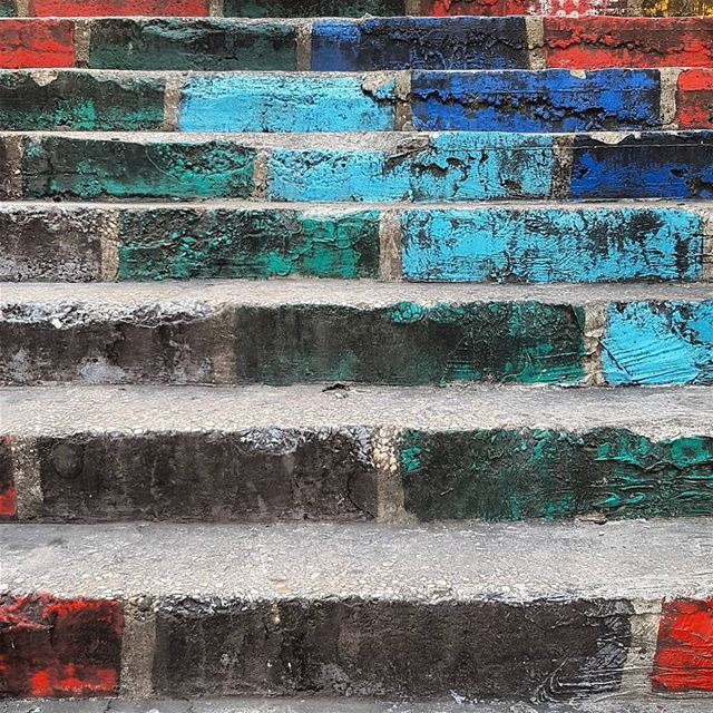 Painted stairs in Mar Mikhael, Beirut. latergram stairs paintedstairs ... (Mar Mikhael-Armenia The Street)