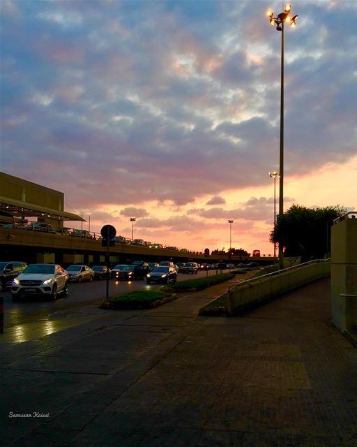 airport now sunset beirut ...