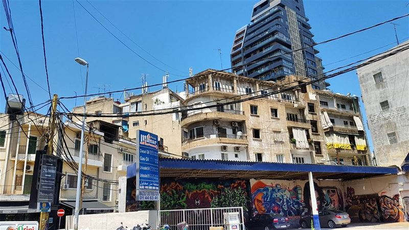 Layers of Beirut. A building designed by famed architect Bernard Khoury in... (Mar Mikhael-Armenia The Street)