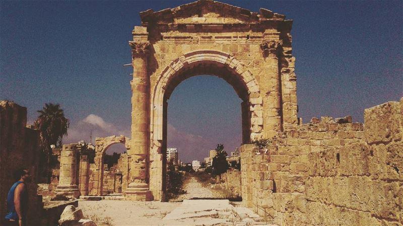 Walking down history tyre lebanon lebanonlove lebanon_hdr ... (Tyre Hippodrome)
