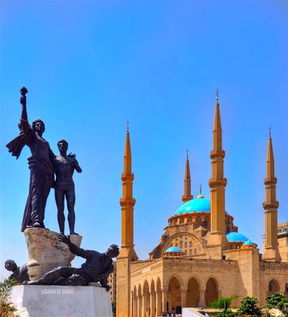 Happy Eid everyone! ❤️🌲❤️ (Martyrs' Square, Beirut)