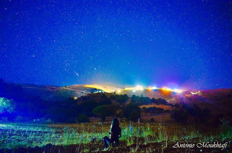Night beauties NatureLover CalmNightinNature GlowingStars ... (Bchennâta, Liban-Nord, Lebanon)