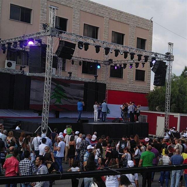 Opening of sandoukeldonia baaklin festival chouf lebanon kids ...
