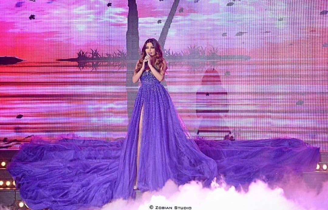 Haifa's look at mr lebanon 2017 💜💜💜💜💜 What do you think guys ?...