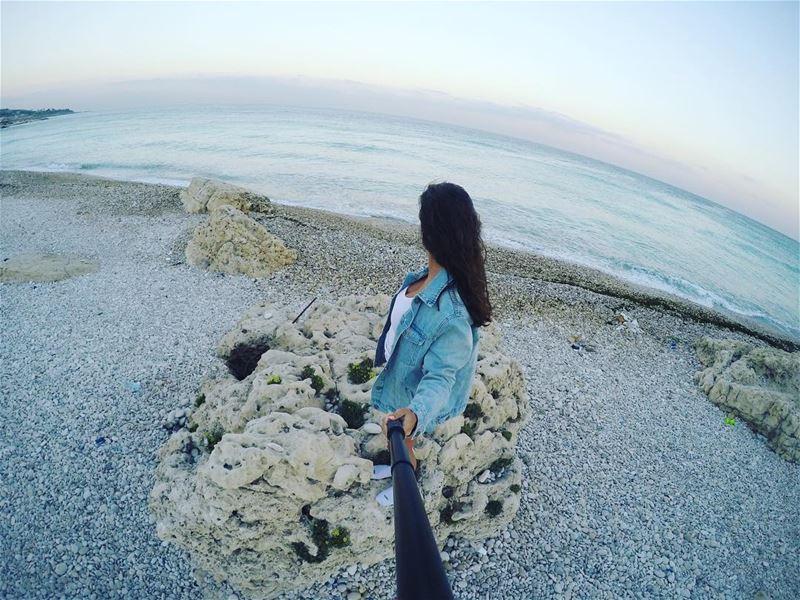 Seas the day 🌊🏝 explorelebanon outdoorliving beachlove coast ... (Kfar Abida)