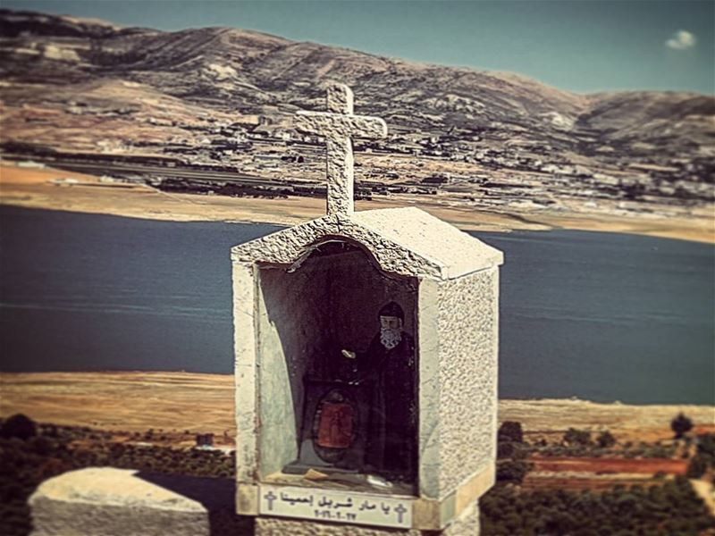Watcher ontheedge surreal religious shrine ontheedge lebanese ... (Lake Qaraoun)
