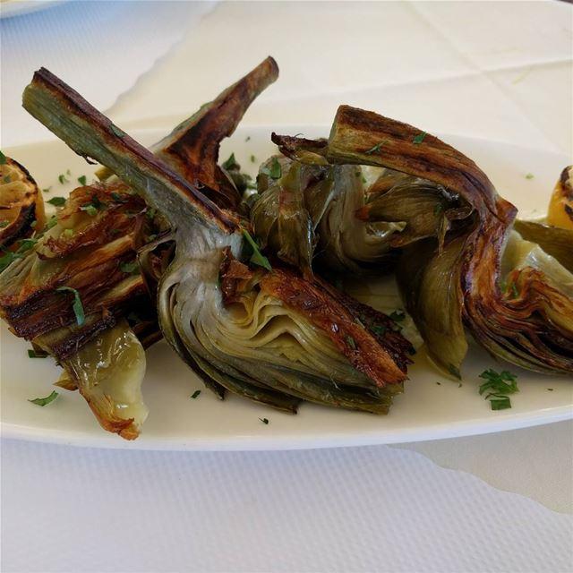 grilledartichocke artichockes fresh yummy instayummy delecious ... (Sausalito, California)