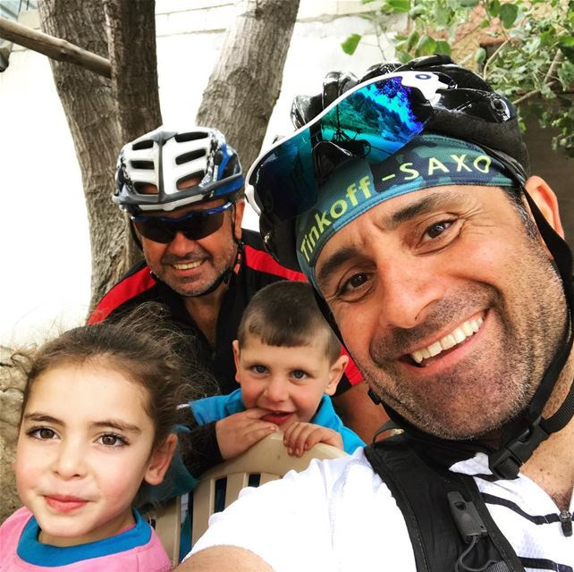 After 30km of mountainbike we took a short break at Yasmina and Rabih...