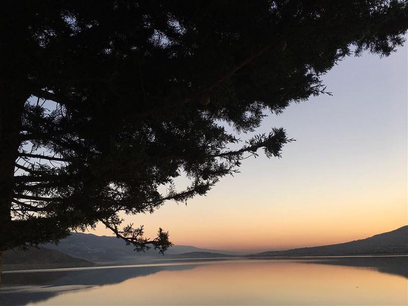 🌄 photography landscapephotography naturephotography nature sunrise ... (Lake Qaraoun)