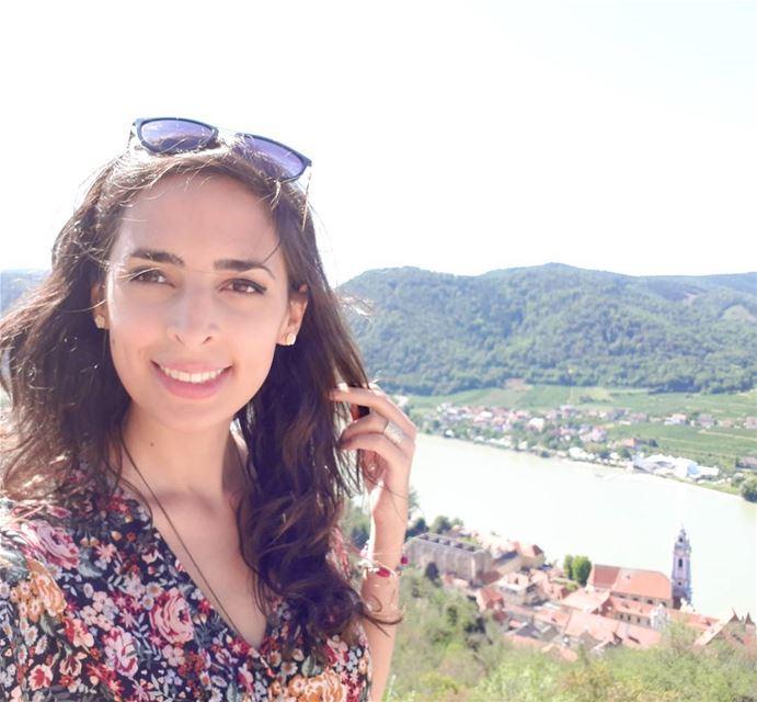 I can see a blue church Austria 💙 bluechurch durnstein ... (Dürnstein, Steiermark, Austria)