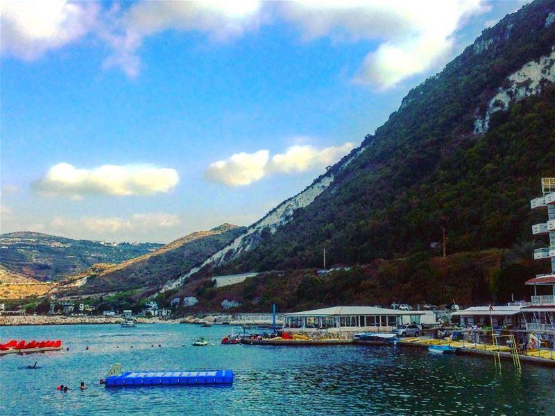 Where the mountains meet the sea 🌊 beach sea outdoor floaters ... (Chekka)