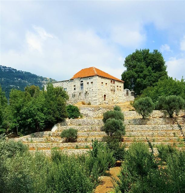Old = beautiful 🌳🌲🌺 ...... Lebanon lebanonoldhouses jbeil byblos...