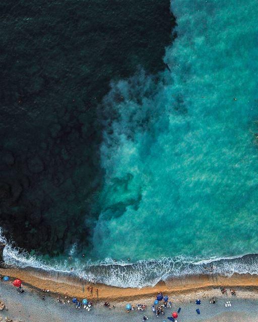 Turbulence breaks monotony🌊・・・ Lebanon yingyang pearlisland coast ... (Byblos)