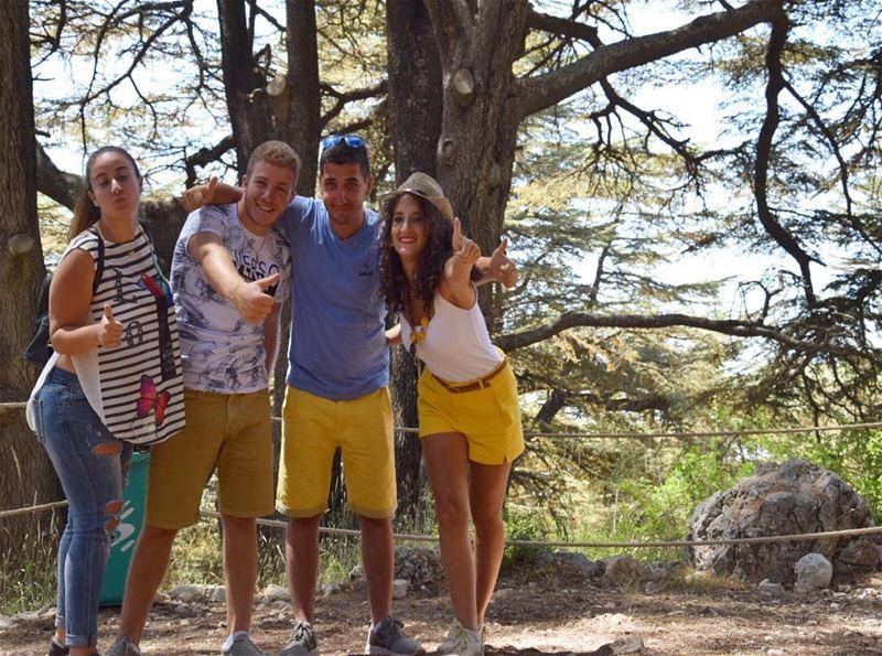 Crazy cousins, crazy family 💛 Bcharre CedarofGod_______🇱🇧_______... (El Arz, Liban-Nord, Lebanon)