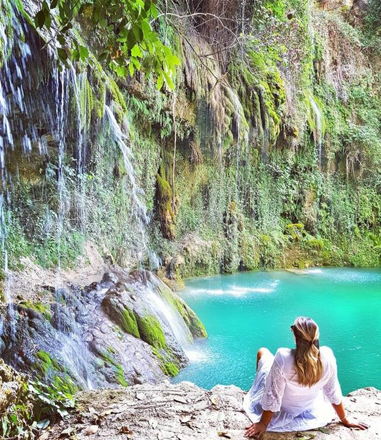 Found a place where I belong... 💚💦💚 Surrounded by stunning cascades and... (Baakline, Mont-Liban, Lebanon)