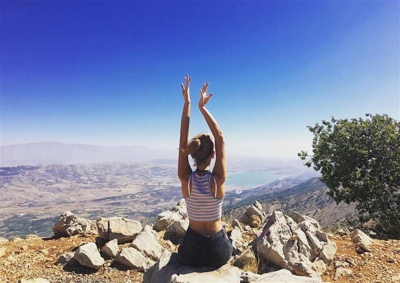Take time to do what makes your soul happy 🍀 LookAround 🌎-------------- (Lake Qaraoun)