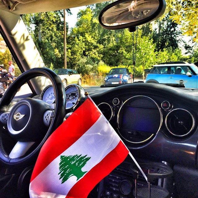 mininorthlebanon livelovelebanon Lebanon flag 🇱🇧 red white green ... (Hasbaya)