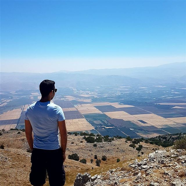 It's easier to go down a hill than up it but the view is much better at... (Al Shouf Cedar Nature Reserve)