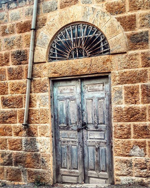Locked Memories👣🌾 door olddoor antiquity memories architecture ... (Jezzîne, Al Janub, Lebanon)
