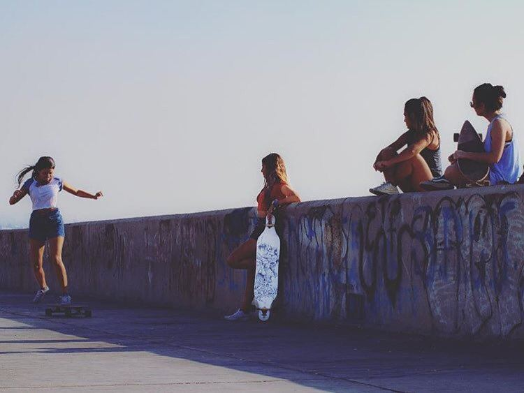 When he's out with the girls 😏- - repost @samerdiab1 skateboarding ...