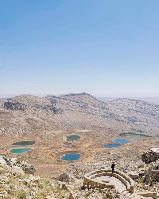 Emerald & Turquoise lakes, Akoura - Mount of Lebanon 🇱🇧........ (Akoura, Mont-Liban, Lebanon)