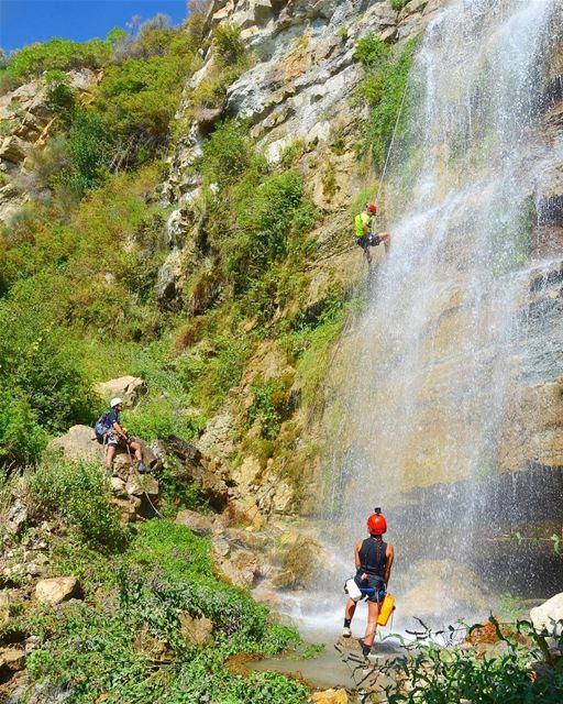 Natural water park 🌿💦 Lebanon waterfall ... (Hammana)
