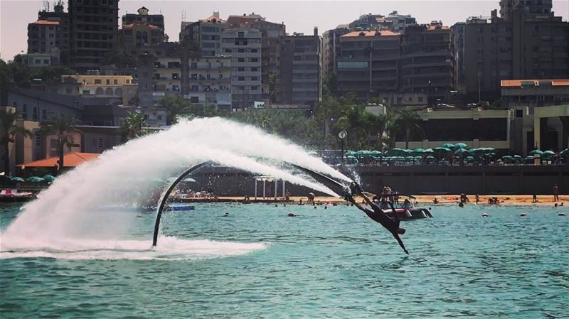 Do it with passion or not at all 😎🐬⚓️  flyboard  flyboardlebanon ... (ATCL)
