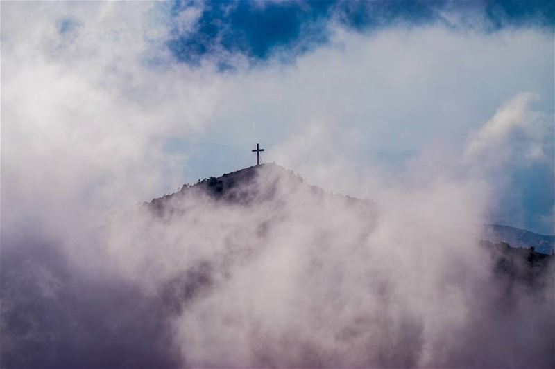 When the cross rise above... lebanon ehden photography nikon ... (Horsh Ehden)