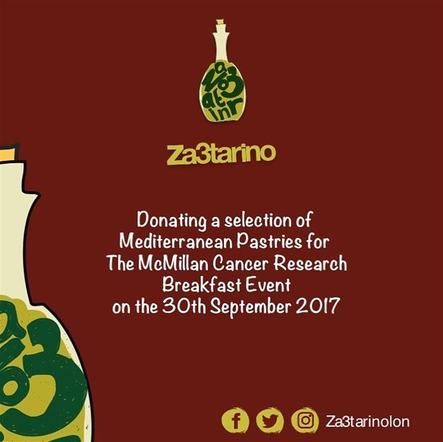 Za3tarino Will be Donating a Selection of Mediterranean Pastries for the...