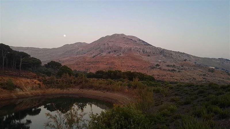 lebanon lebanese mountains mountlebanon sky moon lake summer view... (Falougha, Mont-Liban, Lebanon)